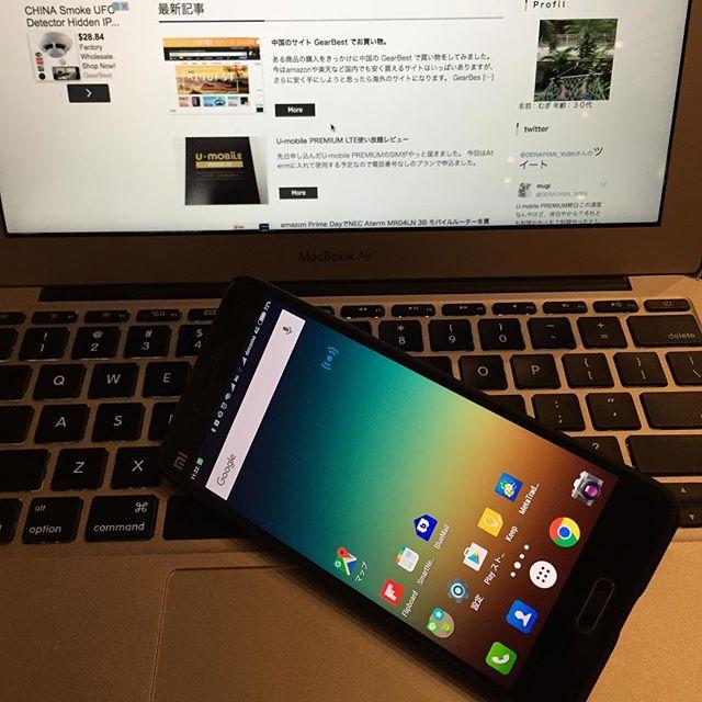 Xiaomi Mi5で遊び中。#Xiaomi #Mi5